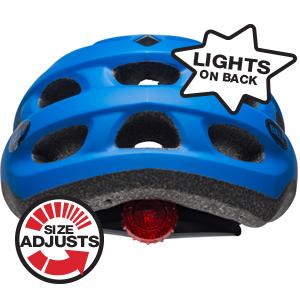 Connect bike helmet with lights