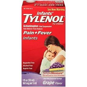 Amazon Com Infants Tylenol Acetaminophen Liquid Medicine