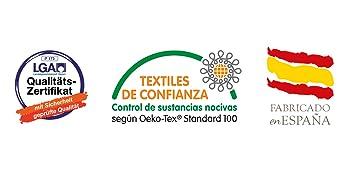 Certificación LGA y Oeko-Tex Fabricado en España Colchón con garantía de San Ignacio |