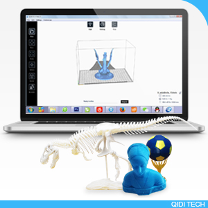 QIDI TECHNOLOGY Dual Extruder Desktop 3D Printer QIDI TECH I, Fully Metal  Frame Structure, Acrylic Covers, with2 Free Filaments, Works with ABS and