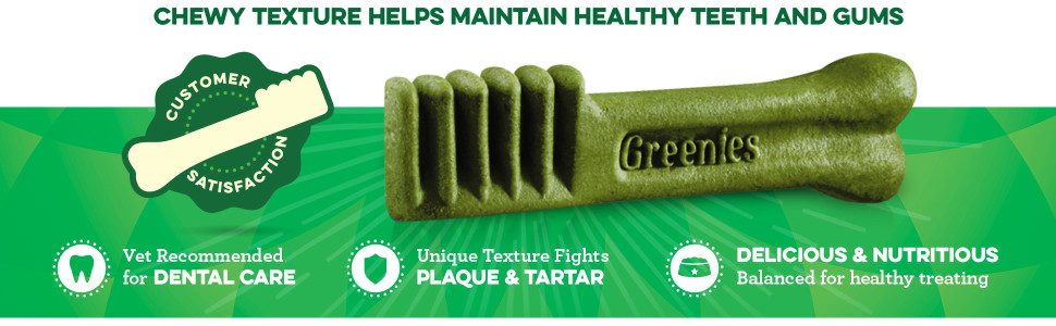 A unique texture helps maintain healthy teeth and gums, vet recommended for dental care, brushing