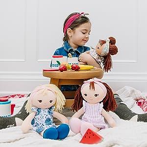 baby gund plush baby dolls stuffed animals soft play girls blonde brunette