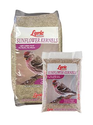 lyric, bird seed, bird food, wild bird seed, sunflower kernels, sunflower seeds, shelled sunflower