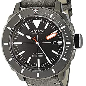 Alpina Seastrong Swiss Automatic Diver Watch, Stainless Steel, Turning Bezel, Screw down crown