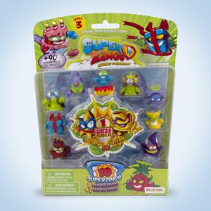 Superzings - Serie 3 - Blíster 10 figuras (1 figura dorada y 9 figuras regulares) , color/modelo surtido: Amazon.es: Juguetes y juegos