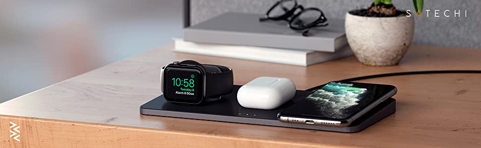 Satechi Trio Wireless Charging Pad