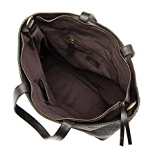 dark brown tote frye and co