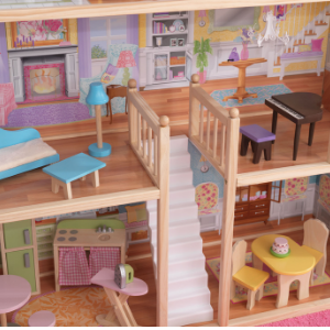 KidKraft Majestic Mansion Dolls House, Dolls House Rooms, Dolls House Staircase