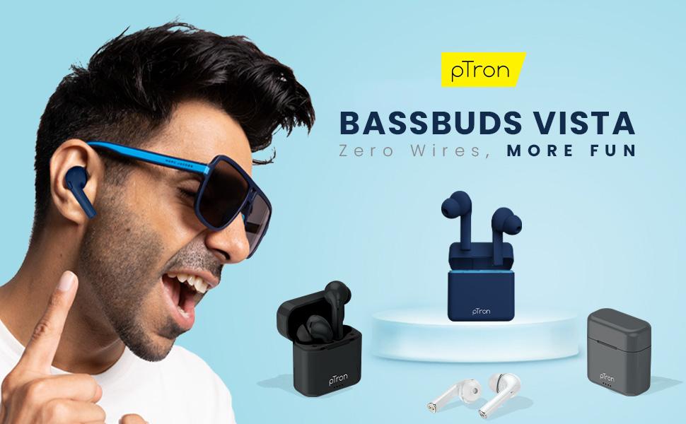 pTron Bassbuds Vista wireless headphones