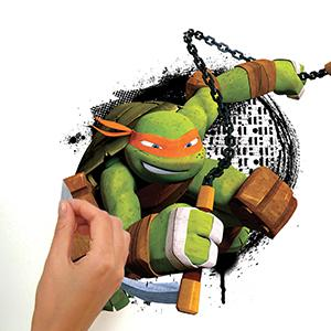 RoomMates Teenage Mutant Ninja Turtles In Action Peel And Stick Giant Wall Decals