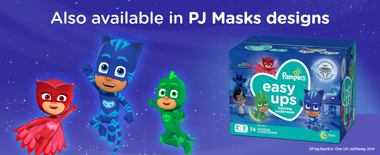 Also available in PJ Masks designs