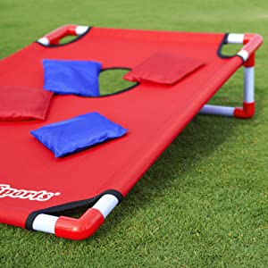gosports portable cornhole pvc game boards bean bag toss kids adults tailgate outdoor lawn games