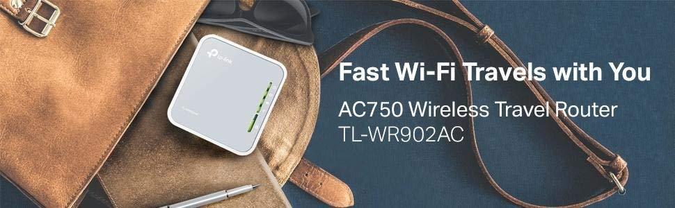Portable Wi-Fi Travel Router Nano Size - TP-Link AC750 TL-WR902AC