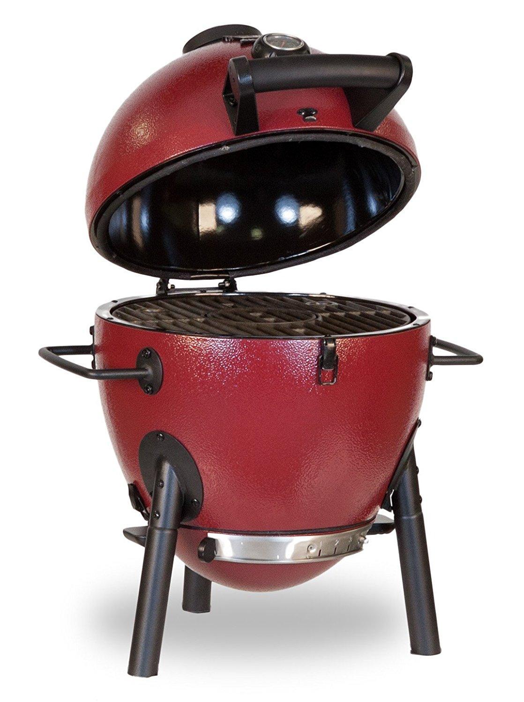 char griller e06614 akorn jr kamado kooker charcoal grill red garden outdoor. Black Bedroom Furniture Sets. Home Design Ideas