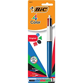 Pack of 1 BIC 4 color ballpoint pen