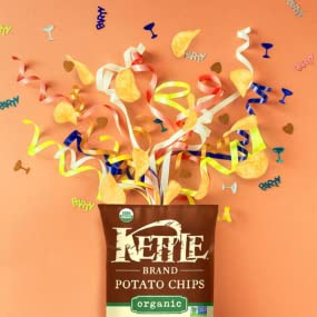 kettle chips, potato chips, chips, salt, organic