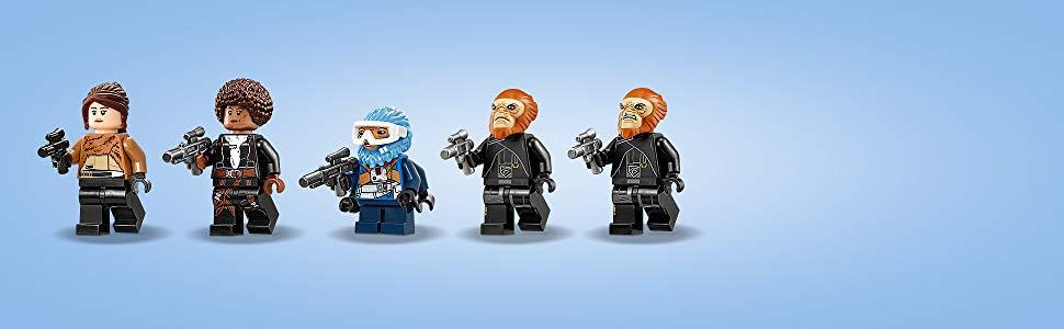Enthält 5 LEGO Star Wars Minifiguren.