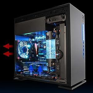 mini tower, micro atx, mini itx, computer case, pc gaming chassis, rgb, in win 301c