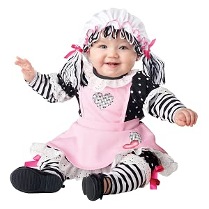 Baby Doll Costume, Rag Doll Costume, Cute Baby, Cute Infant, Pink Costume, Halloween, Raggedy Ann