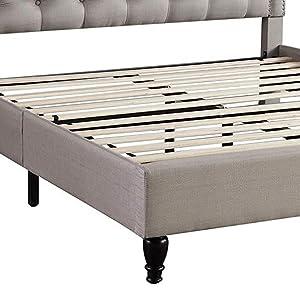 bed, slats, bed frame, platform bed, bedding, homelife, headboard