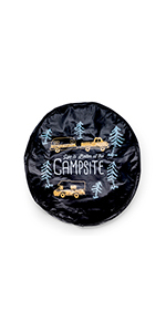 14,15,16,17 Inch NELife Tire Cover California Flag US State Wood Potable Polyester Universal Spare Wheel Tire Cover Wheel Covers for Jeep Trailer RV SUV Truck Camper Travel Trailer Accessories