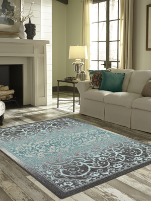 Maples Rugs Pelham Vintage Area Rugs for Living Room & Bedroom [Made in  USA], 7 x 10, Blue Grey