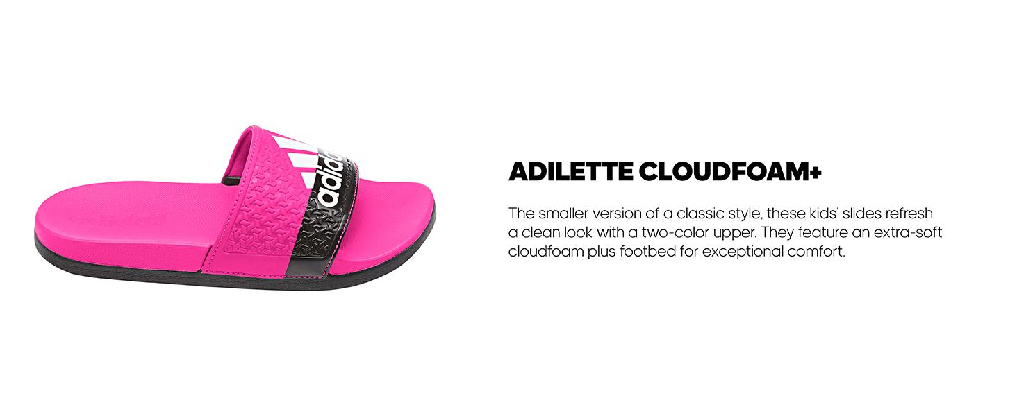 7473e87ae915 adidas adilette cloudfoam+ kids