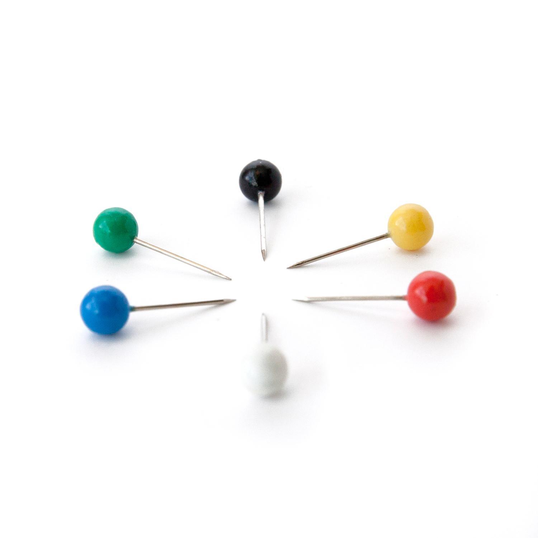 amazon com u brands map push pins plastic head steel point