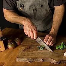Cuchillo de cocina biselado de 16 grados muy afilada hoja de cocina para cortar corte en rodajas