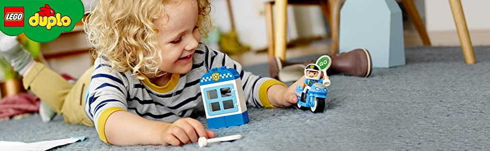 Amazon.com: LEGO 10900 Duplo Town Police Bike - Bloques de ...