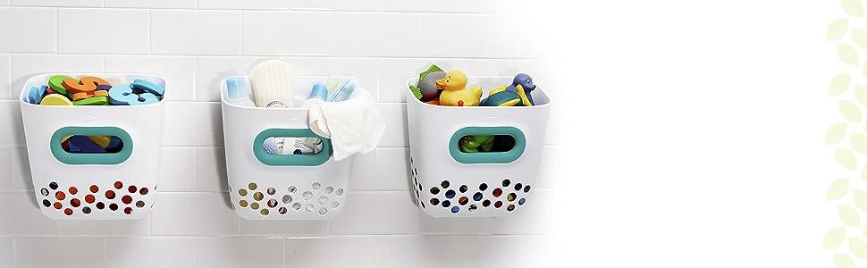 Amazon Com Oxo Tot Bath Toy Bin Teal Baby
