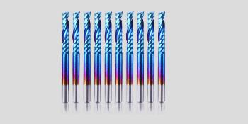 1,5-3,175 mm 10er-Pack Geeignet f/ür 3D-Reliefskulpturen Schneiden Gravieren Schlitzen Fr/äsen usw. 1//8 Zoll Shank Spiral Upcut Nano Blue Coat Schaftfr/äser CNC-Fr/äser