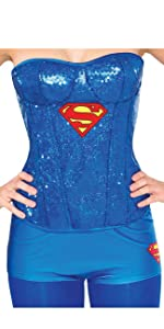 Supergirl Sequin Corset with Boy Shorts