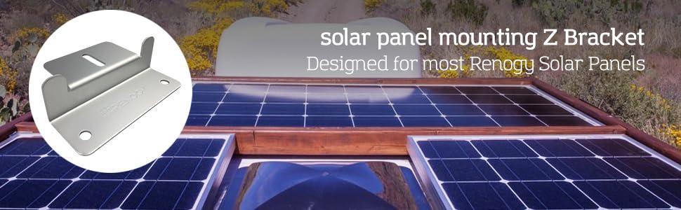 Renogy 2 Sets Solar Panel Mounting Z cket Set of 4 Units RV Boat Off on rail accessories, rail connectors, rail fittings, rail shelving, rail parts, rail fasteners, rail hinges,