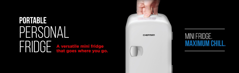 Amazon.com: Chefman Portable Compact Personal Fridge Cools