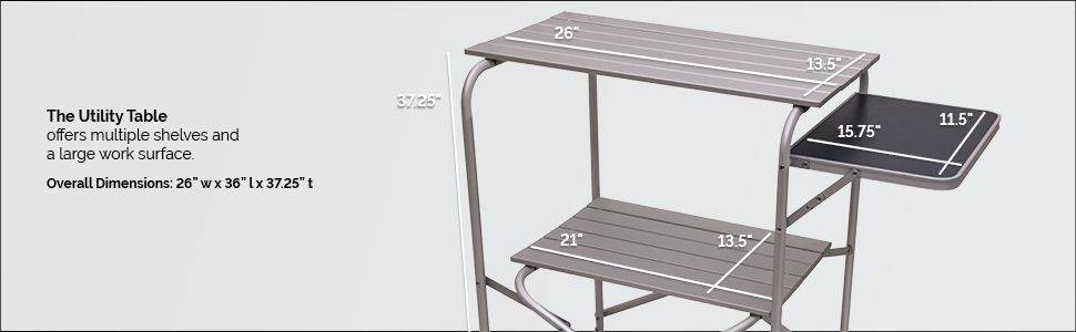 utility table dimensions