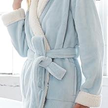 Blue Keila Sherpa Robe