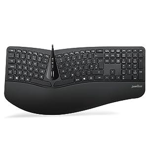 Perixx Periduo-505, combo de teclado dividido ergonómico y ...