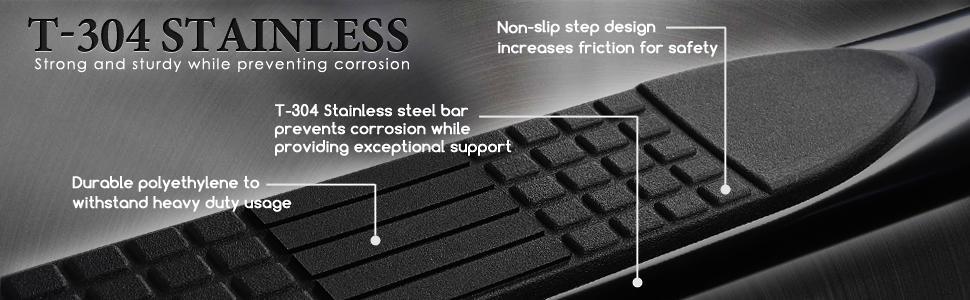 Spec-D Tuning SSB3-RGL05S2-WB Honda Ridgeline Chrome Polish 3 Side Step Nerf Bars Running Board