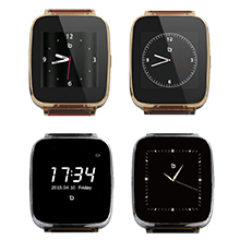 Beantech Full Function Smart Watch for Apple/Android Devices. Classical Elegance with Communications, Fitness, Music & Camera Control. Gold with Brown ...