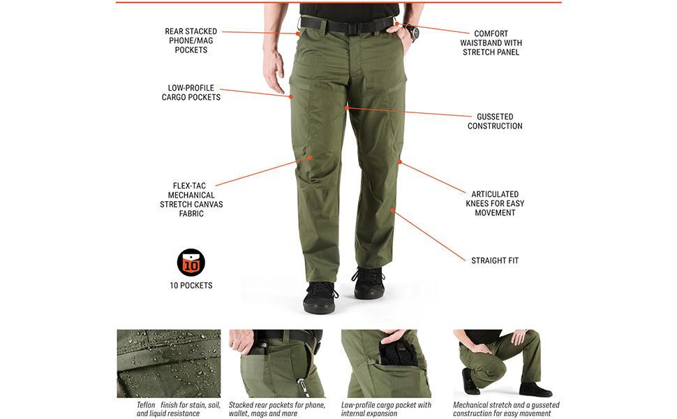 Men's Apex Cargo Pant Unique Features