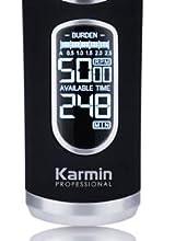 Karmin T70 - Maquina de cortar pelo/cabello profesional para hombre con cuchillas de ceramica, Inalámbrica, recargable con Display LED: Amazon.es: Salud y cuidado ...