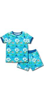boys set warm base layer winter warm pajamas children kids sleep sleepwear