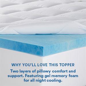 foam bed topper queen