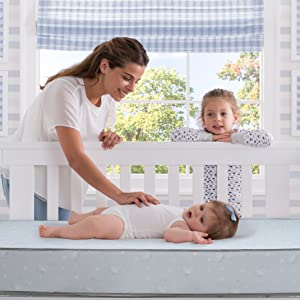 serta crib toddler mattress baby infants lightweight square corners