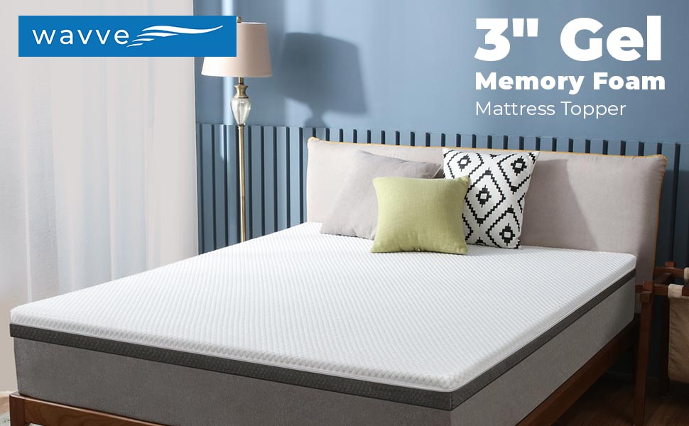 "wavve 3"" Gel Memory Foam Mattress Topper"