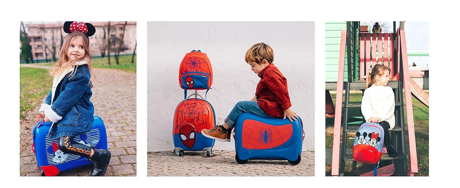 kids luggage; minnie mouse; mickey mouse bag; samsonite; trunki; kids luggage; kids suitcase