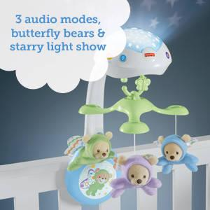 Fisher Price Cdn41 Butterfly Dreams 3 In 1 Projection