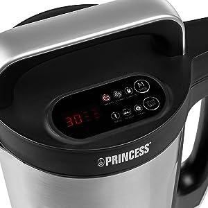 Panneau de contrôle et programmes du blender soupe Princess Family XL
