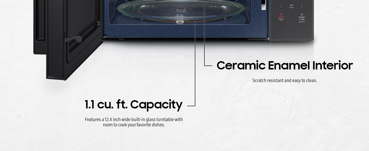Micro-wave table-top white 1000w glass-plate foot panasonic technology toshiba lighting voltage